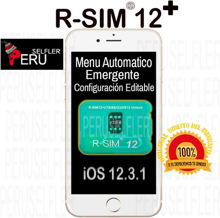 Rsim 12 mas R sim 14 Iphone iOS 12.3.1 R-sim Libera Activa Peruselfler