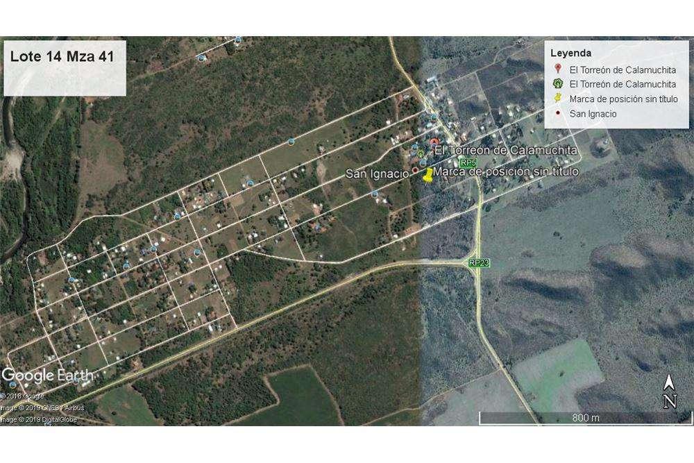 Terreno en Torreón de Calamuchita 500mts prox Ruta