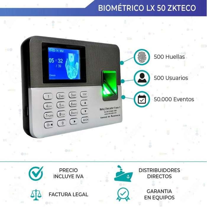 Lector De Huella. Biometrico. Lx50. Zkteco. Asistencia. Sistemas de asistencia y acceso.