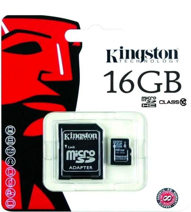 Memoria Micro Sd 16gb Kingston Hc Clase 10 Camara Celular