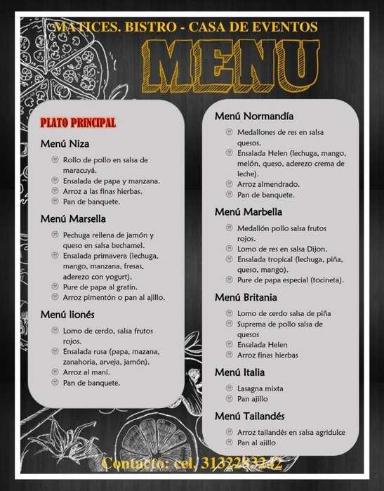 Comidas- Pasabocas- Banquetes