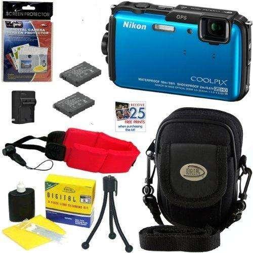 Camara Nikon AW110 Azul Sumergible