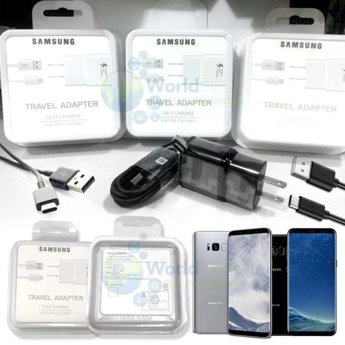 Cargador Samsung S8 S8 S9 Plus Note 8 Carga Rapida Tipo C
