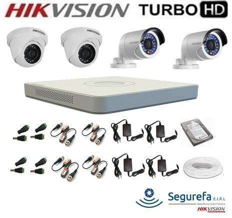 Kit 4 Camaras de video Vigilancia DVR, Mouse Wifi Todo, INCLUYE INSTALACIÓN