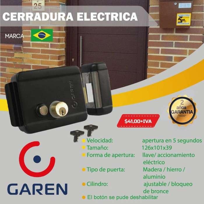CERRADURA ELECTRICA MARCA GAREN UN AÑO DE GARANTIA/ QUITO