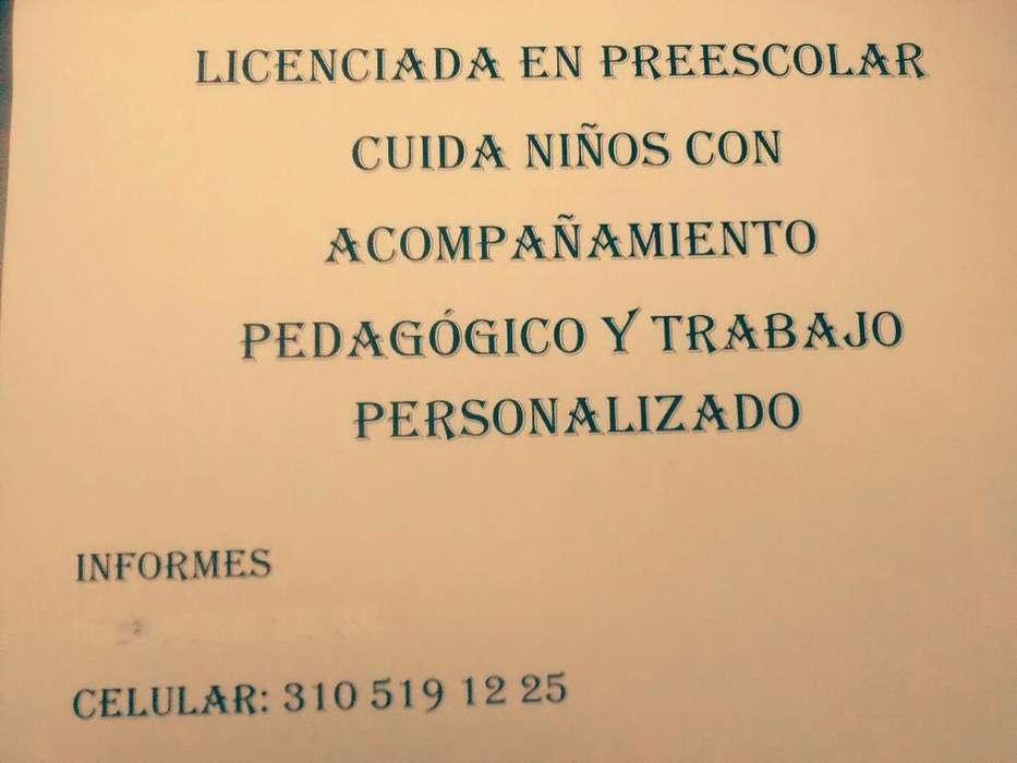 Licenciada en Preescolar Cuida Niñ@s