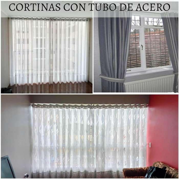 cortinas con tubo de acero, cortinas roller, roller screen, roller blackout, persianas, estores