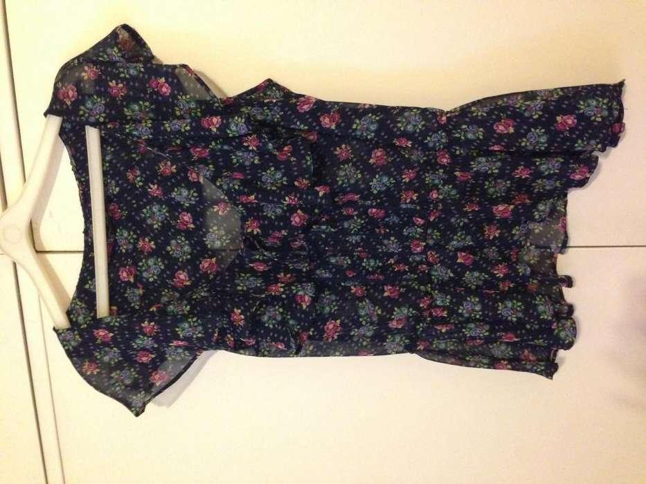 <strong>camisa</strong>/ Blusa Floreada Zara TRF Collection Talle S
