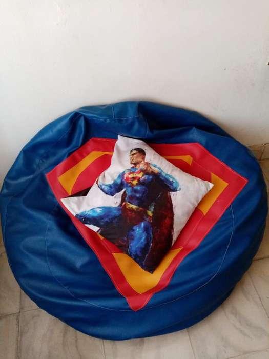 Puff Superman Más Funda Superman