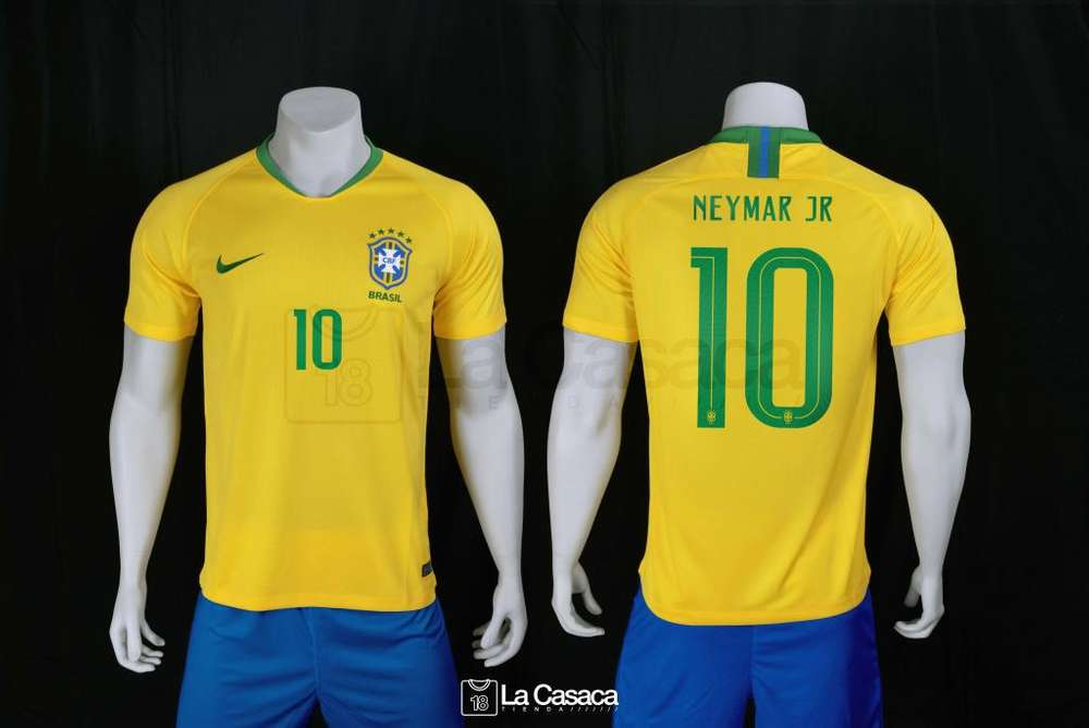 Camiseta original Seleccion Brasil Local 2018 Neymar Jr