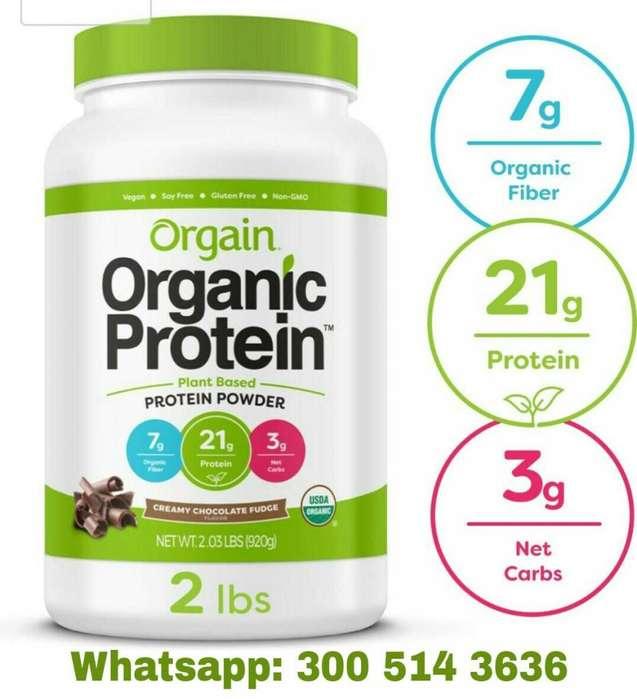 Proteina Organica en polvo de Chocolate 2 lb Orgain Organic