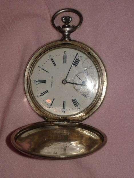"Reloj de bolsillo, marca LONGINES ""GRAND PRIX"", <strong>plata</strong> 900 3 tapas."