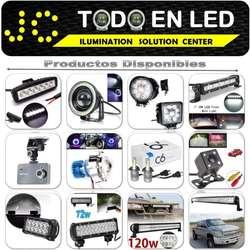 BARRAS LED EN TODO TIPO, ALOGENOS, NEBLINEROS, DE PROMICON PARA TU VEHICULO, FOCOS H4 LED OFERTA 18W 36W 51W 72W 180W