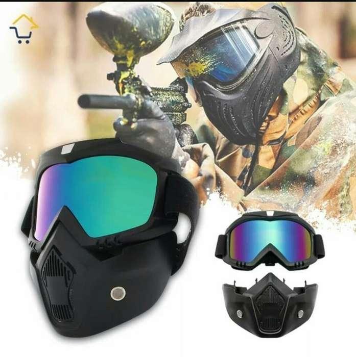 Máscara Paintball Gafas Moto