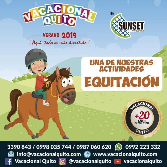 Cursos Vacacionales Quito Sunset 2019 Activ. niños 4 a 15 años / 9 a 4pm