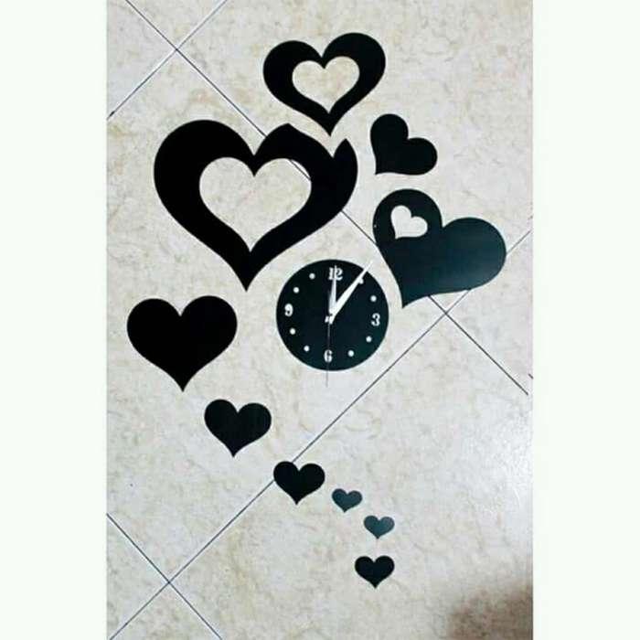 Reloj Corazones Moderno Y Silencioso