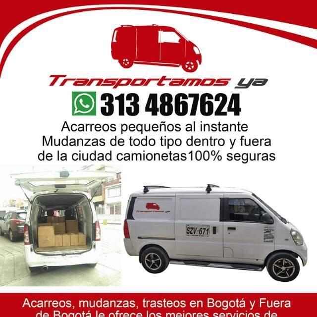ACARREOS ECONÓMICOS desde $ 30.000 pesos