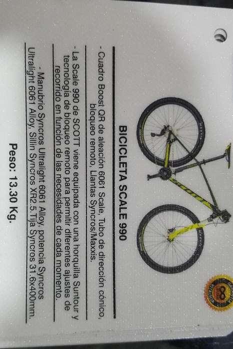 Bicicleta Scott Scale 990 Talla L