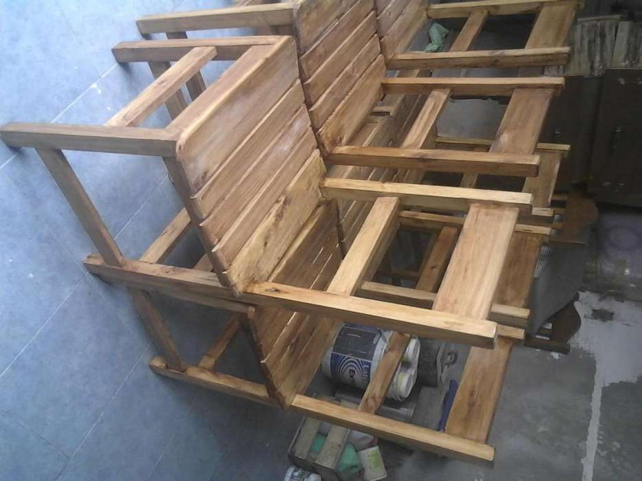 6 <strong>silla</strong>s cedro nuevas lustradas
