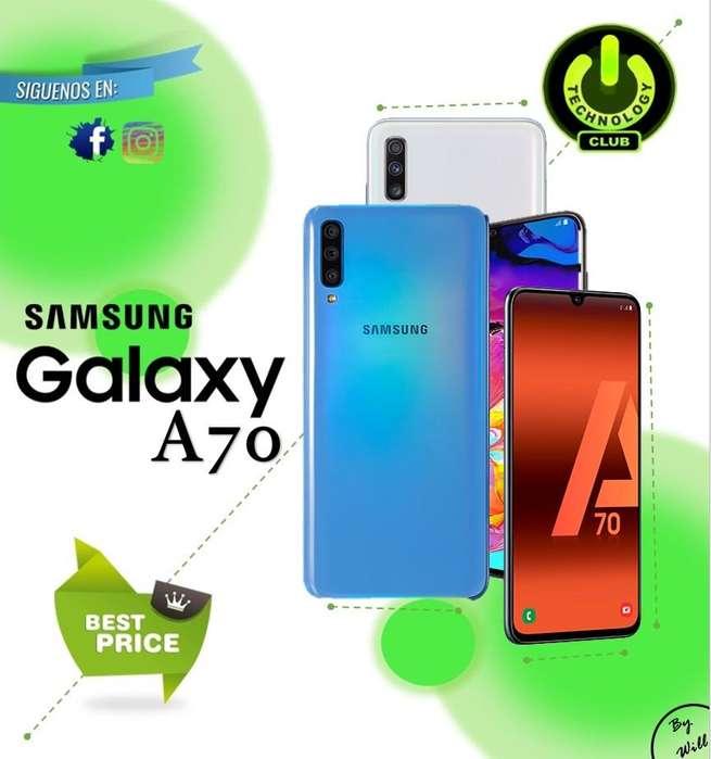 Cyber WOW 2019 ultimo modelo Samsung A70 Galaxy colores variados y liberados Garantia 12 meses / Tienda Fisica Trujillo