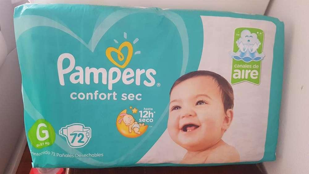 Panales pampers confort sec x 72 u talle G