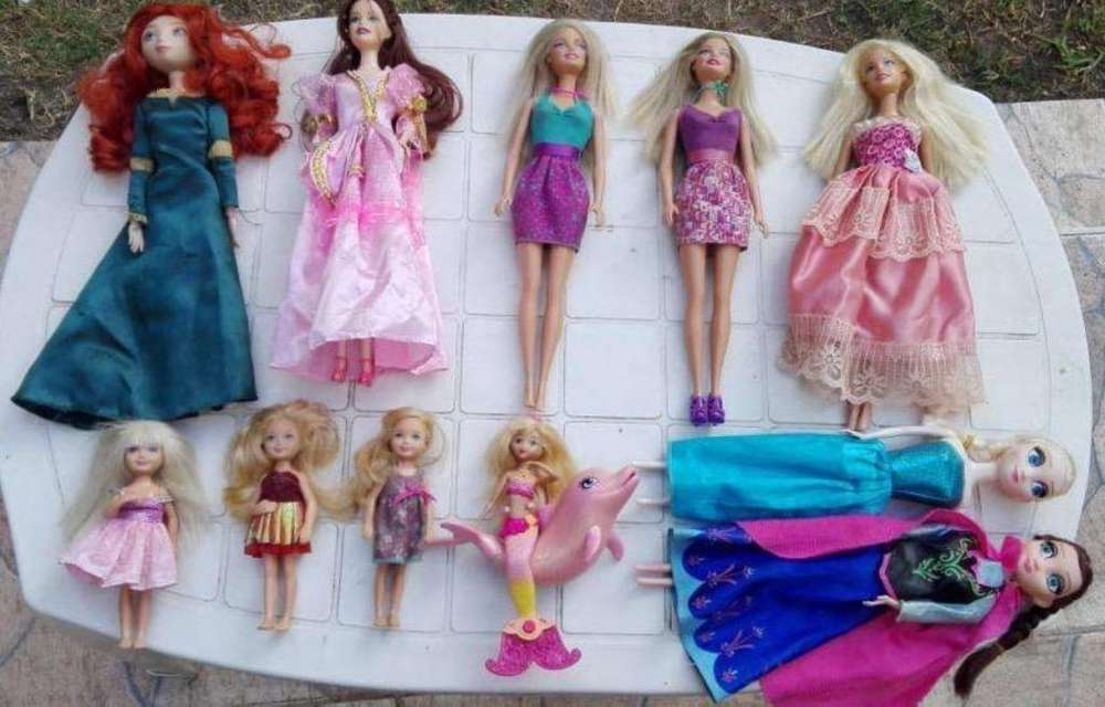 Lote de 10 Muñecas Barbies
