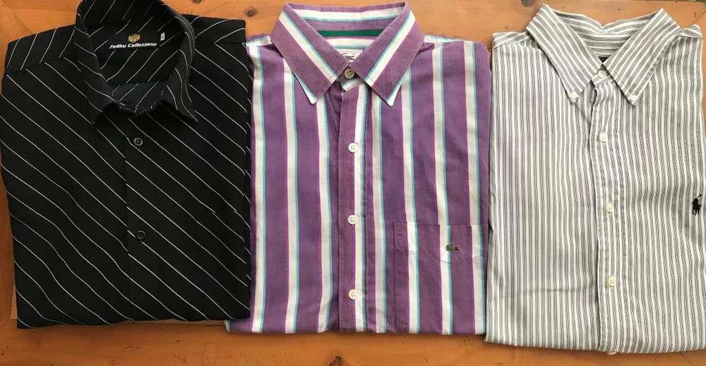 3 camisas de marca Talla: L En muy buenas condiciones Excelente precio