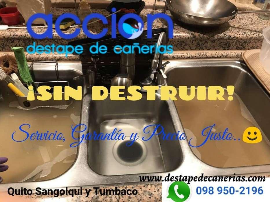 098 950 2196 DESTAPE DE CAÑERÍAS DESAGÜES ¡SIN DESTRUIR! SERVICIO, GARANTÍA Y PRECIO JUSTO.
