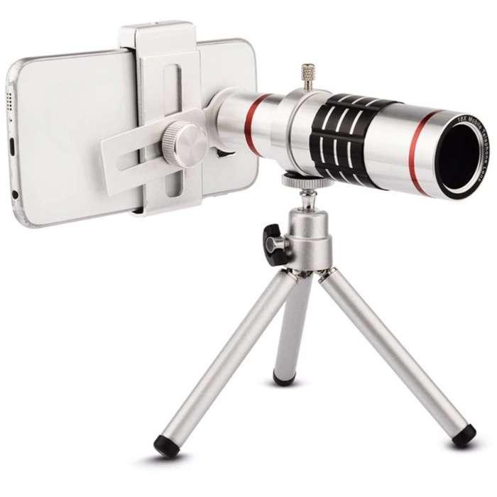 Lente Zoom 12x Para <strong>celular</strong> Telescopio Tripode Control CC Monterrey local sotano 5