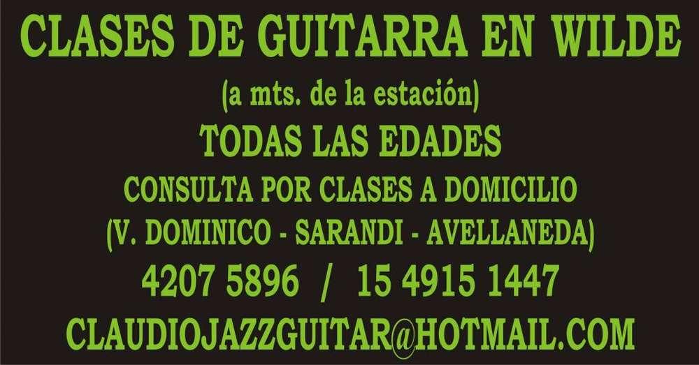 CLASES DE GUITARRA EN WILDE TODAS LAS EDADES Y NIVELES.