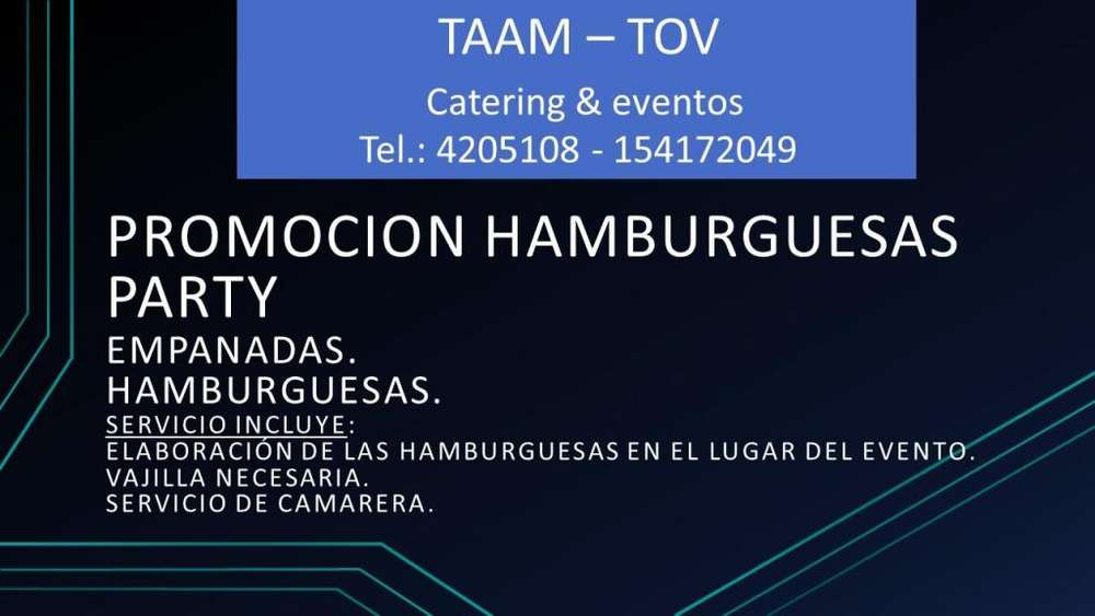 PROMOCION HAMBURGUESAS PARTY