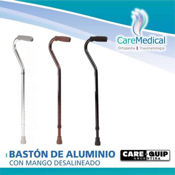 Bastón de aluminio con mango desalineado - CARE QUIP - Ortopedia Care Medical