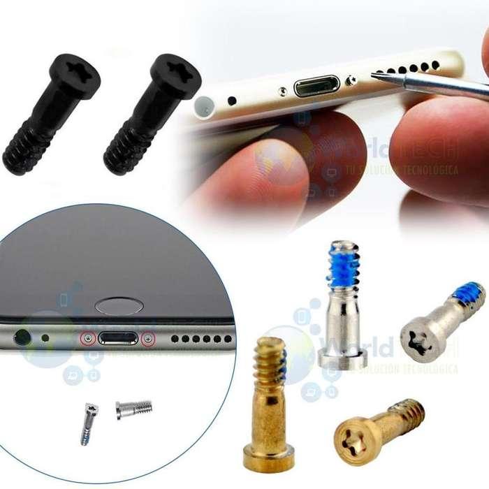 Par Perno Tornillo Inferior Iphone 4 4s 5 5s 5c 6 6s 7 Plus
