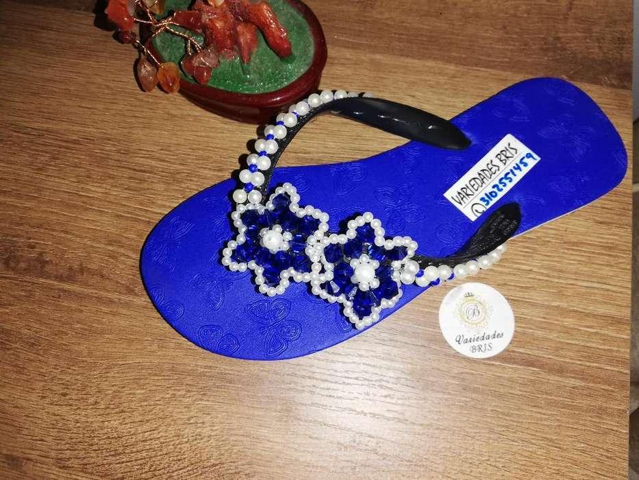 Sandalias Decoradas en Perlas