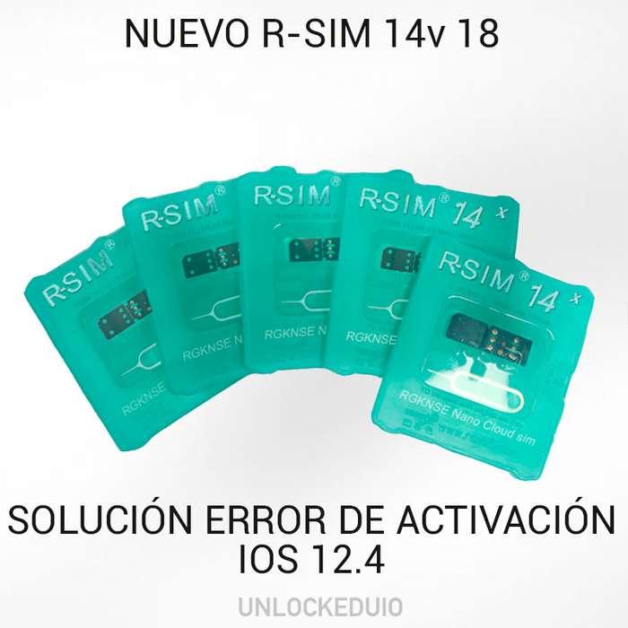 Turbo R-sim 14 v18 Ios 12.4 Libera iPhone I6/xs Max Automenú Iccid