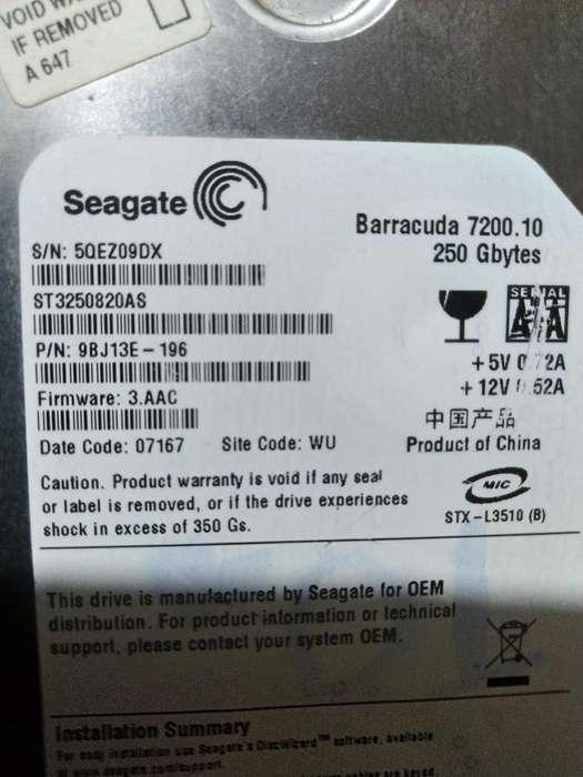 Disco Duro Seagate Barracuda 250 Gb