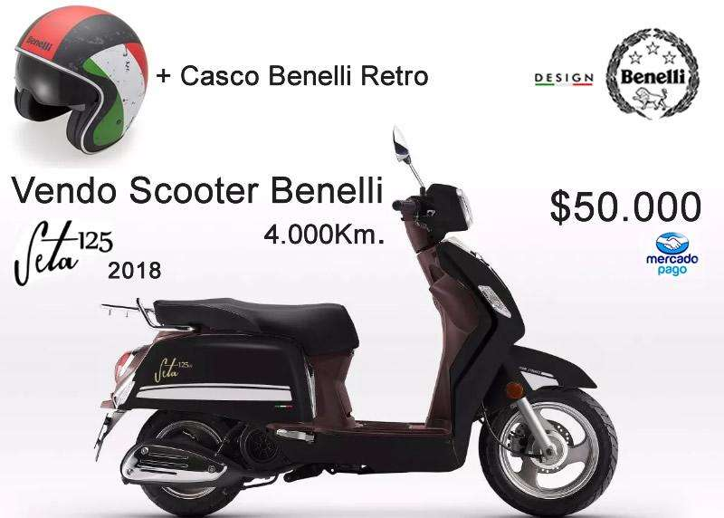 Scotter Benelli 125 2018 4000km.