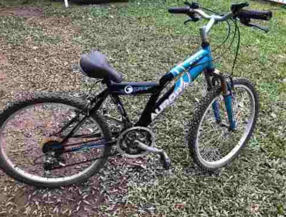 Bicicleta celeste aurora 24 XS con cambi