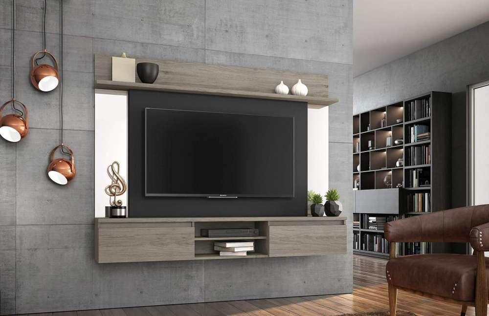 PANEL TV FLOTANTE con espejos