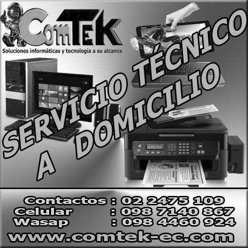 Servicio técnico a domicilio, rápido, seguro y eficaz para computadoras e impresoras