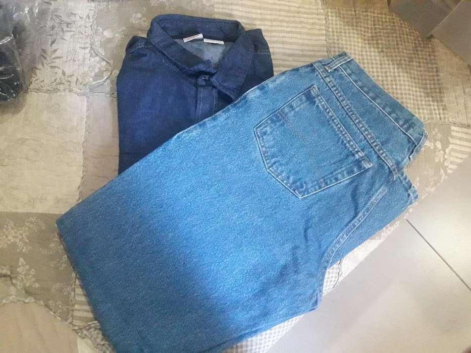 Camisa L Mas Pantalon 46 Jean