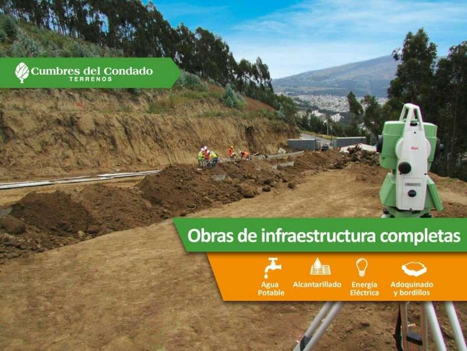 Terrenos Norte de Quito Sector Condado escrituras individuales obras completas
