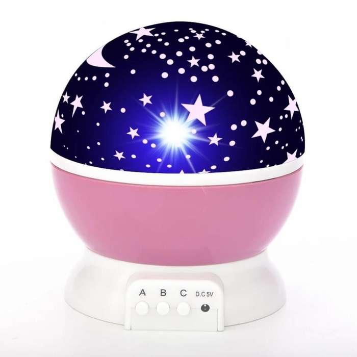 Lámpara Proyector de Estrellas Giratoria
