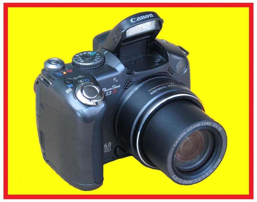 Camara <strong>canon</strong> PowerShot S3 IS Fotografia Video Visor Fijo Pantalla escualizable 13 modos de captura Entrega a domicilio
