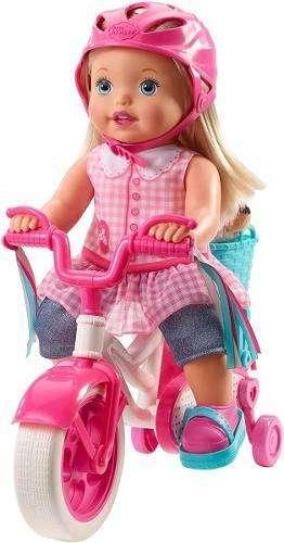 juguete Muñeca Little Mommy Paseo De Bicicleta NUEVO CAJA