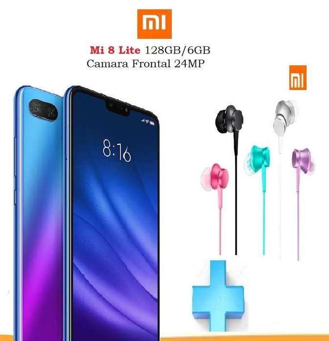 Xiaomi Mi 8 Lite , 128GB/6GB RAM OBSEQUIO, TIENDA FISICA,NUEVO Y ORIGINAL SE ENTREGA FACTURA LEGAL
