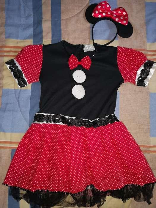 Disfraz Minnie Mouse Talla 10 Niña