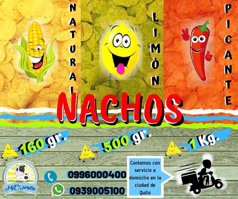 Nachos Sabores - Natural Picante Limón / Cheddar liquido de Multicines Queso