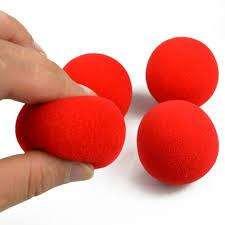 Vendo 4 bolas de esponja suaves para Efectos trucos de magia