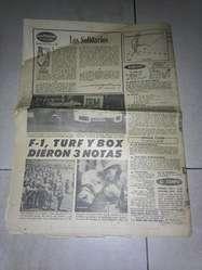 Antiguo ejemplar del diario Crónica, década del 70.